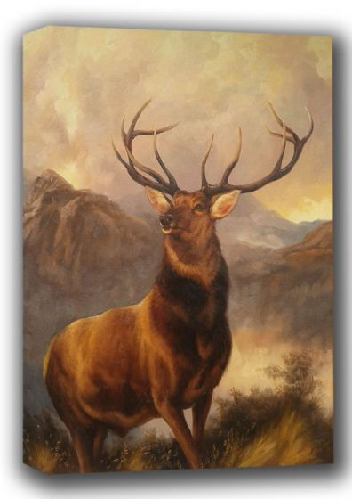 Landseer, Sir Edwin: The Monarch of the Glen. Fine Art Canvas. Sizes: A4/A3/A2/A1 (001723)